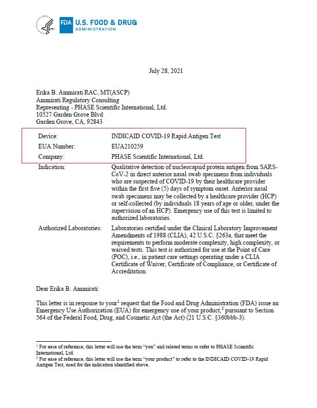 相达生物招彦焘博士:为何INDICAID能成为大中华区唯一获美国FDA紧急使用授权的新冠抗原快速检测产品
