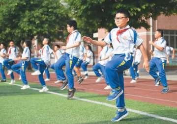 北京一小学尝试每天先上体育课再上文化课